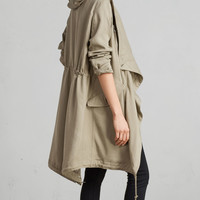 ALLSAINTS US: Womens Portere Parka (dusty_green)