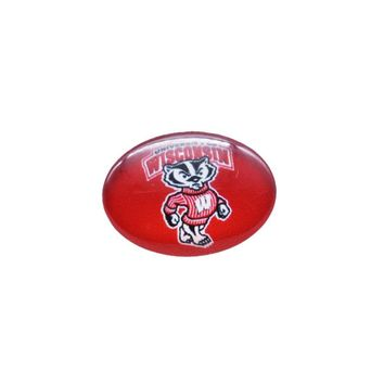 Snap Button 18mmX25mm NCAA Wisconsin Badgers Charms Interchangeable Buttons Bracelet Basketball Fans Gift Paty Birthday 2017