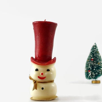 Vintage Gurley Snowman Candle, Vintage Christmas Decoration, Holiday Decor