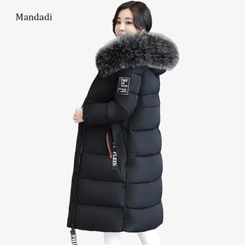 2017 winter jacket women plus size 6XL Women Winter Coat Jacket Warm Woman Parkas Female Overcoat Quilting Cotton Coat