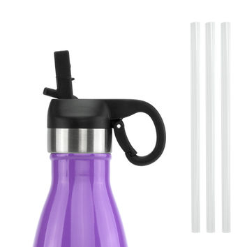 ICONIQ Black Pop Up Straw Cap for 17 Ounce Insulated Water Bottles