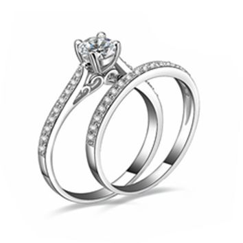 Silver Plated Wedding Ring For Unisex