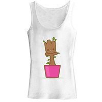 baby groot dancing for tank top
