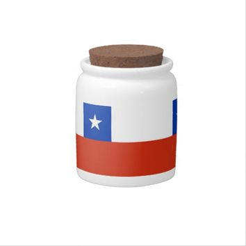 Chilean Flag Candy Jar
