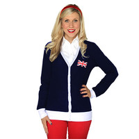 Union Jack TARDIS Cardigan - Blue,