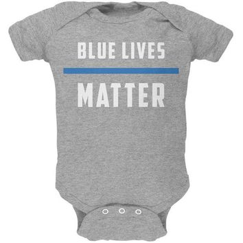 DCCKU3R Police Blue Lives Matter Thin Blue Line Soft Baby One Piece