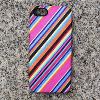 Colorful Fabric Stripes Panting Phone 6 iPhone 6 plus Case Pink iPhone 5iPhone 5CiPhone 4 Case Blue Samsung Galaxy S6 edge S6 S5 Case 056