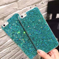 Fashion sequin flashy plastic Case Cover for Apple iPhone 7 7Plus 6 Plus 6 -05012