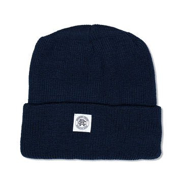 Knit Merion Wool Toque (Navy)