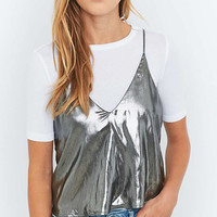 Sparkle & Fade Silver Foil Cami - Urban Outfitters