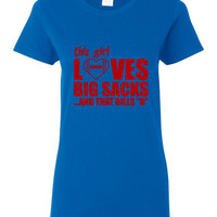 This Girl Loves Big Sacks And That Bills D Tshirt. Great Fan Shirt Ladies and Unisex Style Shirt.  Makes a Great Gift!!!!!