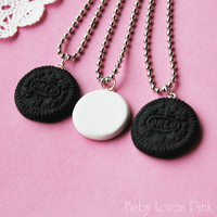 Oreo Best Friends Necklace  Set of 3 by BabyLovesPink on Etsy