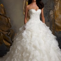 Blu by Mori Lee 5116 Ruffle Wedding Dress