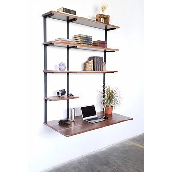 Wall Mount Shelving: Computer Desk