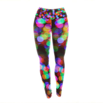 "Maynard Logan ""Lights II"" Yoga Leggings"