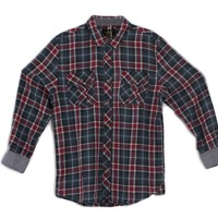 Social Republic Clothing Plaid Shirt in Blue and Red SM33WF022