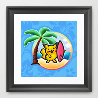 Pika Surf Framed Art Print by Likelikes