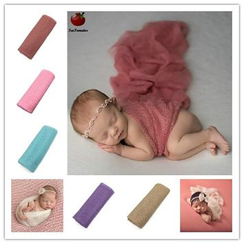 Newborn photography props mohair Acrylic stretchy knit wrap newborn-photography-props blanket wraps baby wrap-newborn scarf