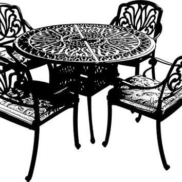 fancy patio furniture set black clip art graphics image royalty free commercial use