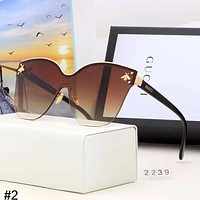 GUCCI 2018 new small bee metal large frame color film polarized sunglasses #2