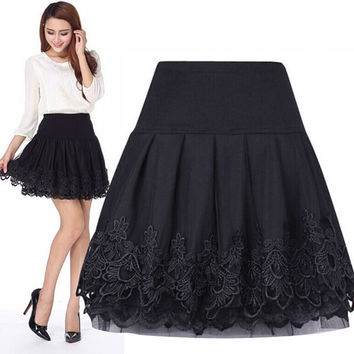 High Waist Lace Skirt