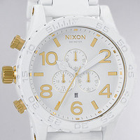 Nixon The 5130 Chrono Watch in All White Gold : Karmaloop.com - Global Concrete Culture