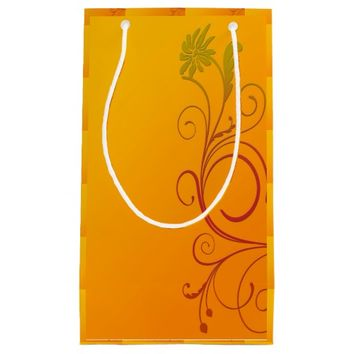 Orange Flower Small Gift Bag