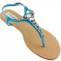 Women's Floral Print T-strap Sandals, More Colors Available