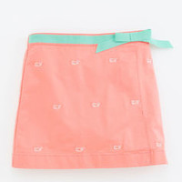 Girls Whale Embroidered Twill Skirt