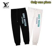 LV Louis Vuitton Fashion new casual reflective letter print trousers