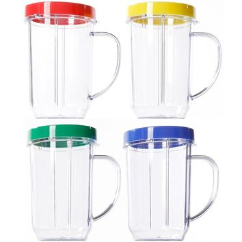 Magic Bullet Party Cup Mugs Set of 4