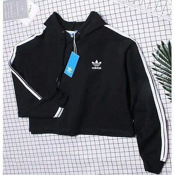 Adidas Cami Crop Hooded Top Sweater Hoodie