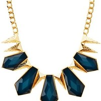 Glitter Gem & Spike Statement Necklace by Charlotte Russe - Emerald