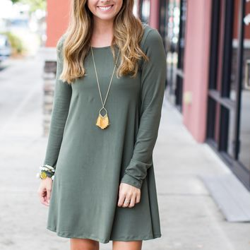 One And Done Dress - Olive