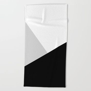 Monochromatic Beach Towel by ARTbyJWP