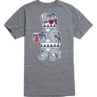 Riot Society Bahama Bear T-Shirt - Mens Tee - Grey