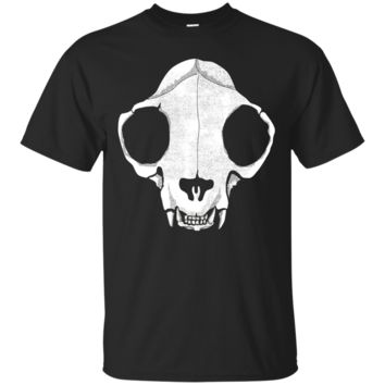 Cat skull Halloween shirt - For creepy cat lovers