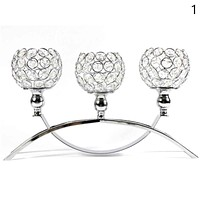 Decorative Centerpiece Crystal Candle Holder