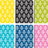 bazic c/r 70 ct. 1-subject damask spiral notebook Case of 24