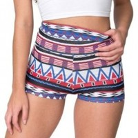 American Apparel Printed Cotton Spandex Jersey High-Waist Hot Short