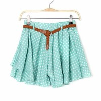 Polka Dot Double Layered Women Skorts