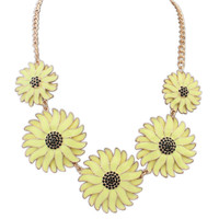 Gift Stylish New Arrival Jewelry Shiny Accessory Strong Character Simple Pastoral Style Floral Necklace [4918844036]