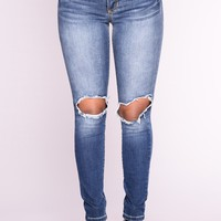 No Nonsense Skinny Jeans - Medium Blue Wash