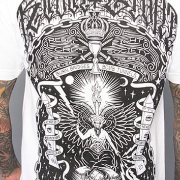 The Baphomet Tee in White