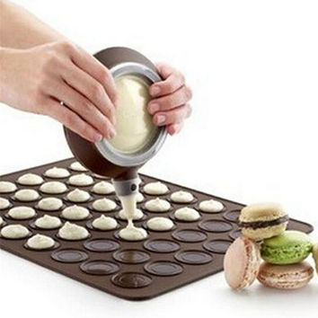 Popular Macaron Silicone Pot Cake Decorating Pastry Tools Muffin/Cake DIY Food Grade Silicone Mold Baking
