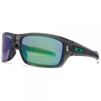 Oakley Turbine Sunglasses Grey Smoke Polarized Jade Iridium Lens OO9263-09