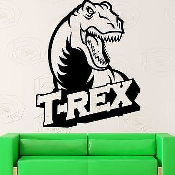 Wall Sticker Vinyl Decal Dinosaur for Kids Room Nursery T-Rex Unique Gift (ig2028)