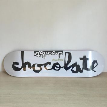 "Chocolate 8"" Canadian Maple Black & White Skateboard Deck"