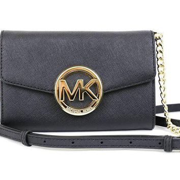 Michael Kors Hudson Phone Crossbody Bag Purse Black