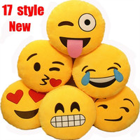 17 Style Home Cute Emoji Stuffed Plush Pillow kid Toys Sofa Cushion = 1946025284